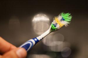 ruined toothbrush