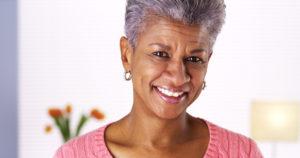 portrait of a smiling older woman