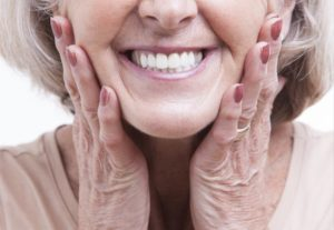 older woman smiling close up