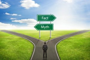 Large signs separating facts from sleep apnea myths